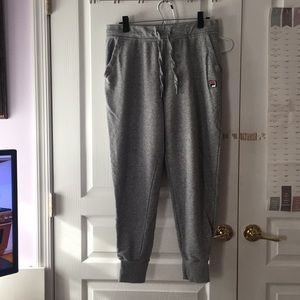 Fila light grey sweatpants W/ pockets